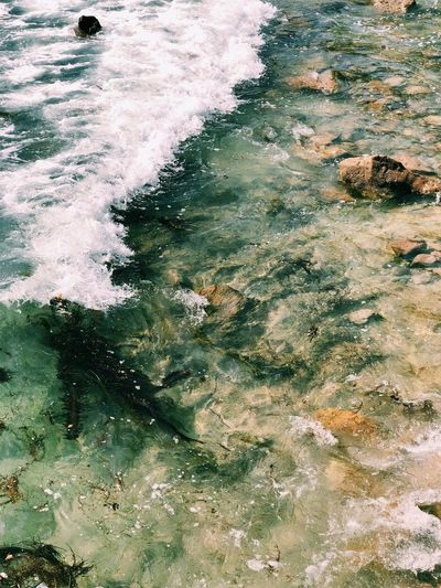 Aquatic Sport Beauty In Nature Day Flowing Flowing Water High Angle View Land Motion Nature No People Outdoors Rock Rock - Object Sea Solid Sport Water Waterfront Wave