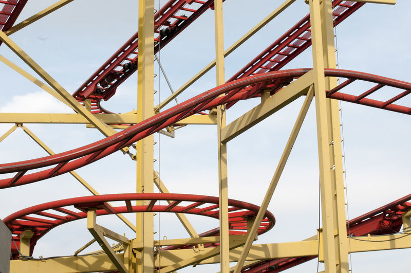 Sky Ride Roller Coaster No People Steel Structure  Amusement Park Amusement Park Ride Day Low Angle View Metal Outdoors