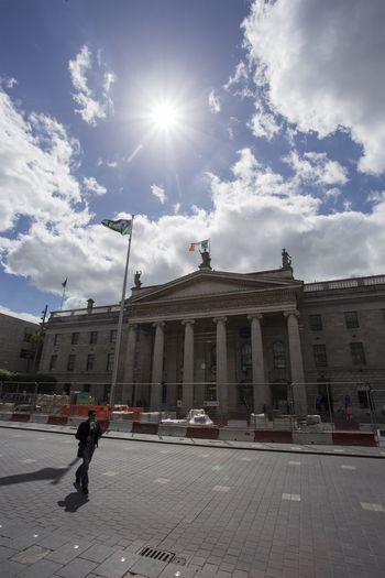 Building Exterior, Capital Cities, Dublin - Republic of Ireland, Famous Place, Leinster Province Dublin Dublin City Dublin, Ireland Ireland Ireland🍀 Architecture Building Exterior Built Structure Cloud - Sky Day Dublincity Gpo Outdoors Sky Sunlight