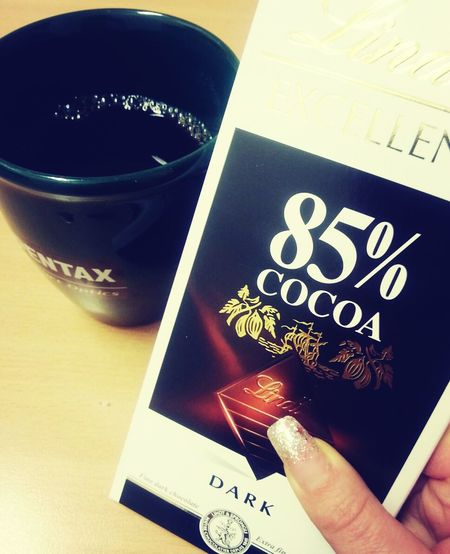 what a day at work! I deserve this!!! Hard Working Girl Coffee Break Chocolate