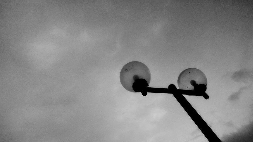Sky Türkiye Malatya Malatya, Turkey Black White Blackandwhite Whiteandblack Streetlamp