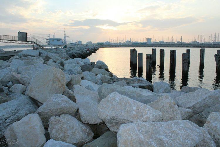 Marina Di Ravenna S Port Fishermen Houses Seagulls And Sea Enjoying The View