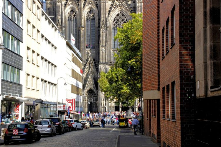Car Tourism Cologne Dom Germany Church City Biker Land Vehicle Motorcycle Cityscape City Street Street Architecture Building Exterior Built Structure International Landmark Windshield Visiting Traffic Road Road Marking Parking Vehicle #urbanana: The Urban Playground Summer In The City