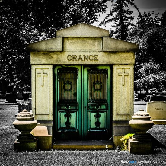 Mausoleum of Crance Rest In Peace Series EyeEm Best Shots - Black + White Cemetery Blackandwhite RIP Series: The doors on this mausoleum really caught my attention. I decided to surround the structure with a black and white edit to bring out its intriguing characteristics.