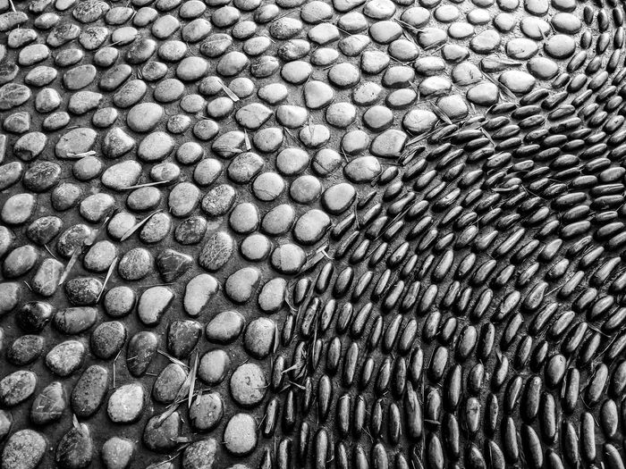 Extreme close up of stone path