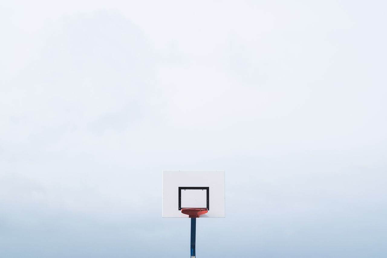 High Section Of Basketball Hoop