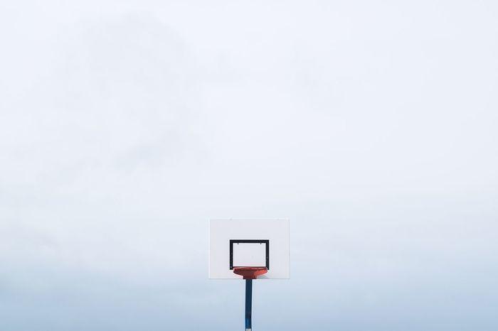 The Color Of Sport White White Background Geometric Shape Modern Pole Outdoors Fujifilm_xseries Minimalobsession Minimalism Geometry Le Havre Basketball Basketball Court Fresh On Market 2016