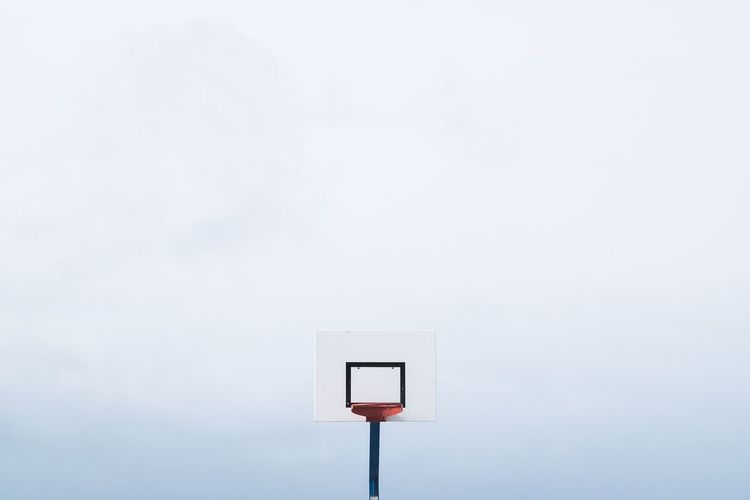 The Color Of Sport White White Background Geometric Shape Modern Pole Outdoors Fujifilm_xseries Minimalobsession Minimalism Geometry Le Havre Basketball Basketball Court Fresh On Market 2016