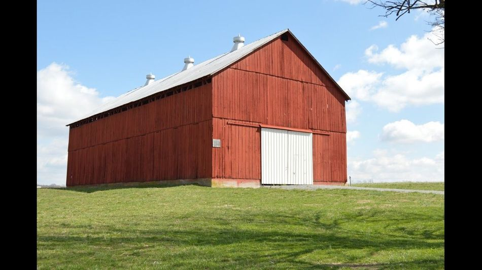 B•A•R•N Grass Field Built Structure Building Exterior Day Sky Outdoors Barn No People Agriculture Architecture Rural Scene Nature