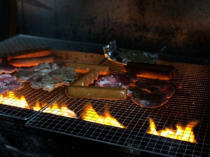 Heat - Temperature Burning Fire - Natural Phenomenon Fire Flame Barbecue Barbecue Grill Food Grilled No People