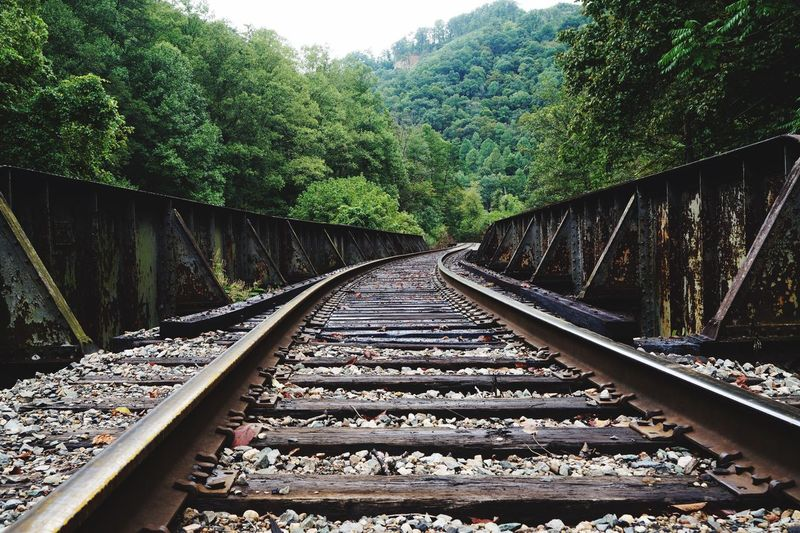 Outdoors Railroadbridge Railroad Track Day No People Fresh On Eyeem