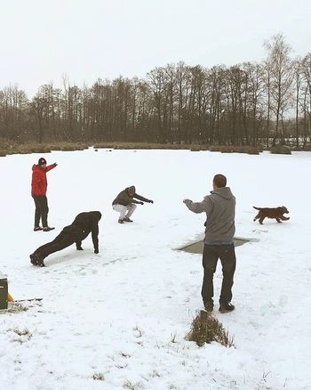 Winter Winter Swimming Cold Nature Zgierz Outdoors Sport Dog Heart Live White Passion Friemds Extreme Weather Extreme Temperature Hobby