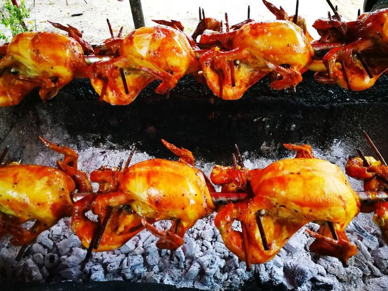 grilled chicken Street Food Grilled Chicken Grilled Chicken .Thailand Food Style Food And Drink Food Healthy Eating Barbecue Grill No People Close-up Seafood Barbecue Freshness