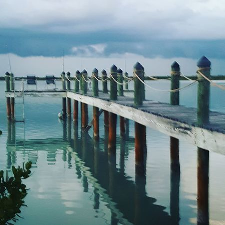 Ramrod Key Florida Sea Sky Water Pier Cloud - Sky Outdoors Horizon Over Water Wooden Post Day No People Nature Tranquility Beach Harbor EyeEmNewHere EyeEmNewHere