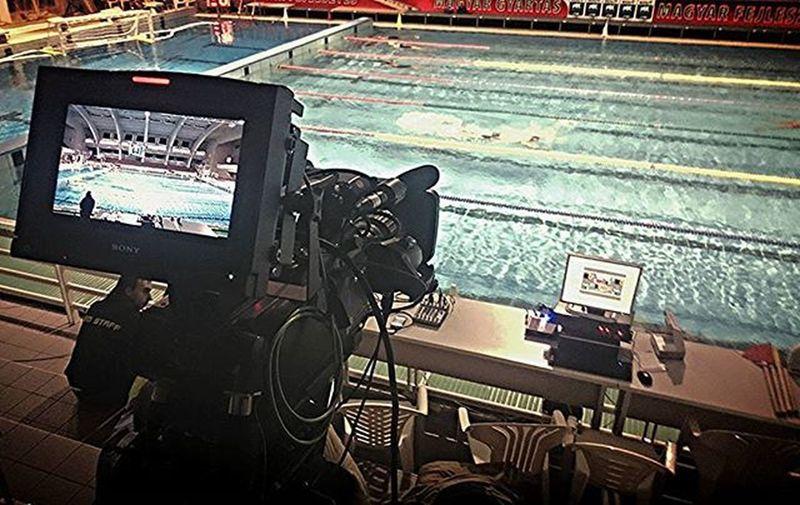 Live Waterpolo Cup Final UVSE BVSC Hajósalfréduszoda Margaretireland Work Kamera Action Water Pool