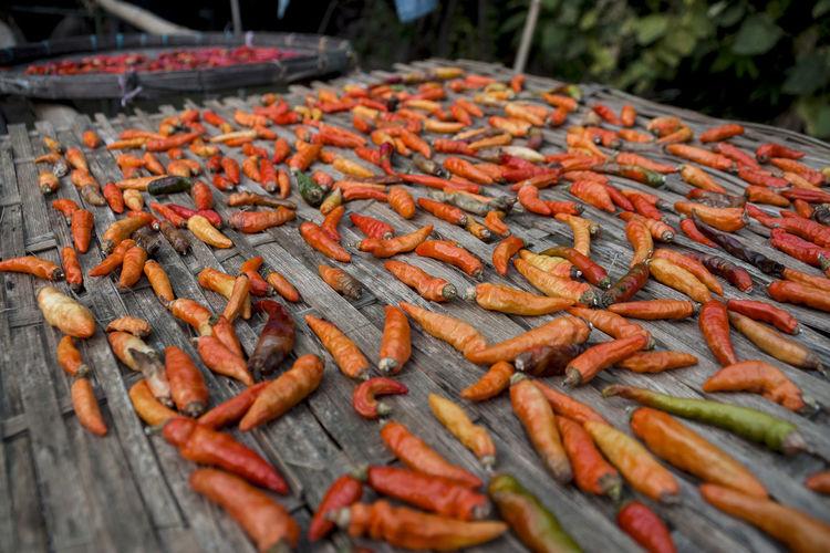 Dried chilies Spicy Thai Food Chili  Close-up Day Food Food And Drink For Sale Freshness Healthy Healthy Eating Nature No People Organic Outdoors Red Chili Pepper Spices Food Variation
