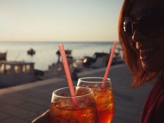 Having A Drink Sunset Point Of View Chears Seaside Italy Sicily Bonagia Focus Object Live For The Story The Portraitist - 2017 EyeEm Awards Sommergefühle
