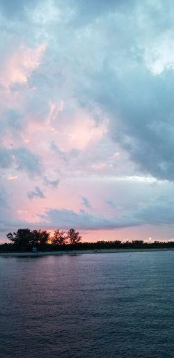 Water City Sunset Tree Blue Lake Pastel Colored Sky Cloud - Sky Landscape Romantic Sky Dramatic Sky Atmospheric Mood