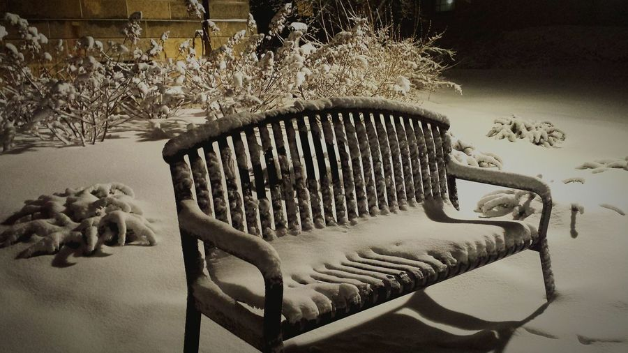 Winter Park Bench Desolate Cold Snow Lonely Wisconsin Markesan UW Madison