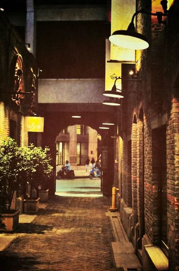 Lane Lane Built Structure Architecture Building Exterior Night Illuminated Outdoors No People City