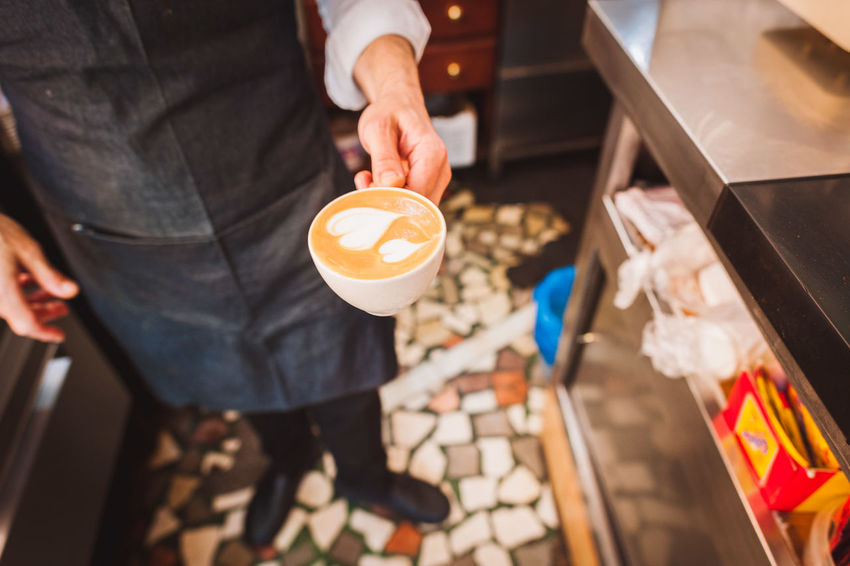 Cafe Cafe Latte Coffee Coffee And Sweets Coffee Cup Coffee Shop Coffee Time Europe Froth Art Frothy Drink Holding Latte Latteart Lifestyles Pastry Refreshment SPAIN Sweet Food