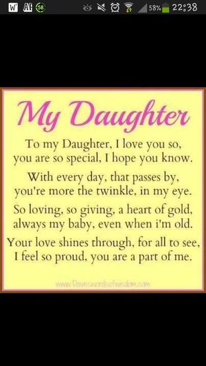 Daughter Love♥ Starofmine