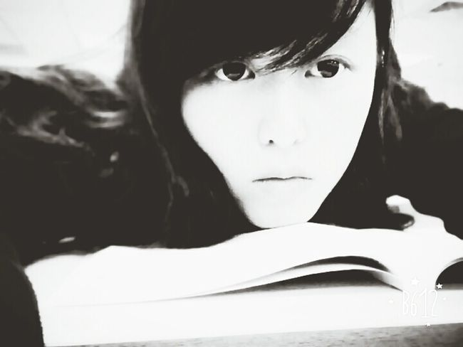 Smile for yourself!! Studying Books Blackandwhite Sleepy