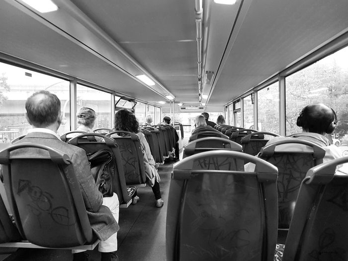 Blackandwhite Black And White Black And White Photography Group Of People Real People Men Crowd Rear View Adult Women Transportation Large Group Of People Public Transportation Lifestyles Vehicle Interior Mode Of Transportation Vehicle Seat Seat Sitting Leisure Activity Rail Transportation Train Waiting Bus Go-west-photography.com