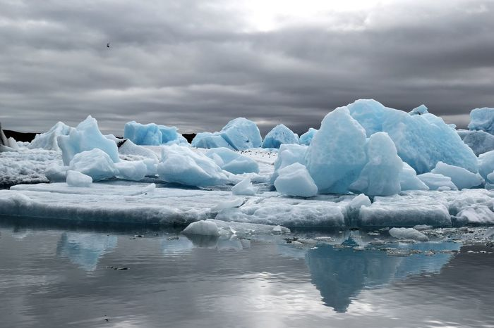 Jökulsarlön glacier lagoon, Iceland Water Tranquil Scene Cold Temperature Reflection Scenics Iceland Island Nature Tranquility Waterfront Frozen Winter Season  Iceberg - Ice Formation Sea Snow Glacier Nature Ice Cloud - Sky Melting Cloud