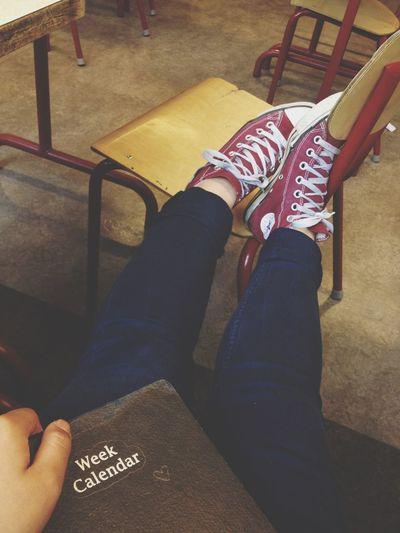 School Tired Working