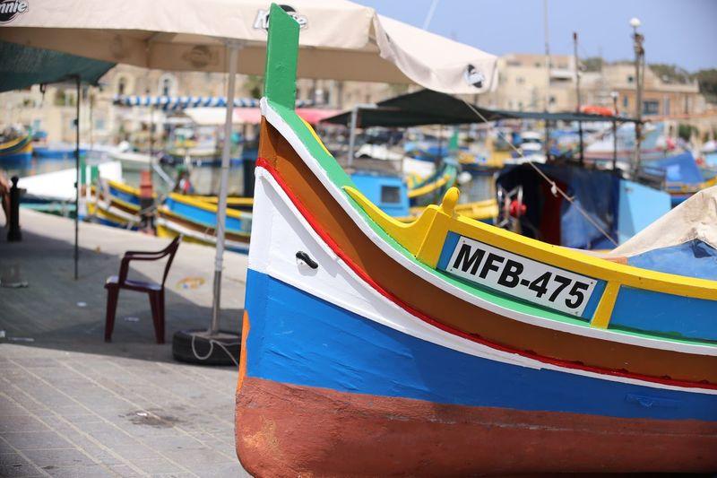 Malta fishing boat Luzzu Malta Fishing Boat Mediterranean  Marsaxlokk