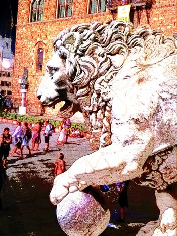 Italy Ancient Ancient Architecture Community Community Outreach Monument Monuments Florence Florence Italy Firenze Piazza Della Signoria Sculpture Lion Sculpture Sculpture Statue King - Royal Person Architecture Lion