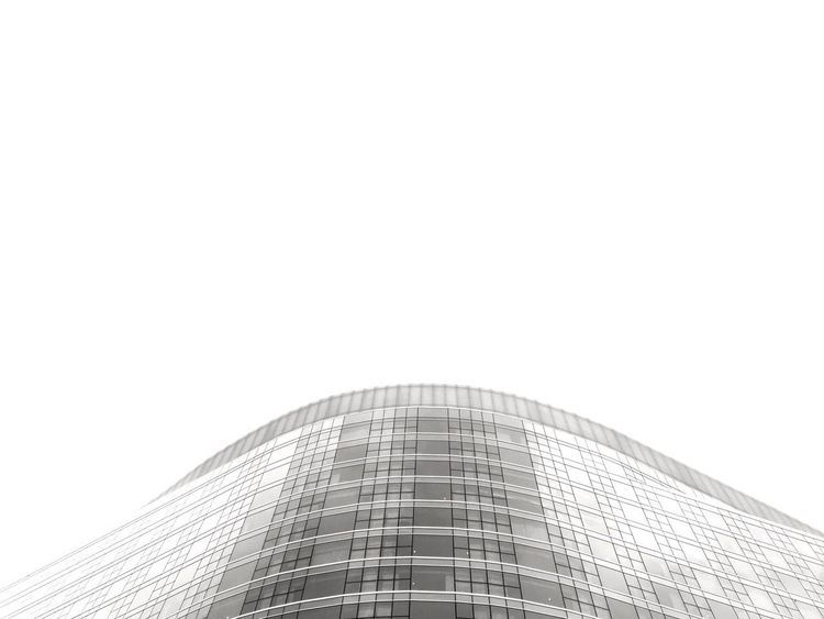 Architecture Photography Architecture Modern Built Structure Skyscraper Building Exterior Low Angle View City Day Clear Sky No People Outdoors Sky Futuristic Cityscape Glass - Material Reflection Curves And Lines Monochrome Simplicity Simple Photography Urban Geometry Urbanphotography Windows Greyscale