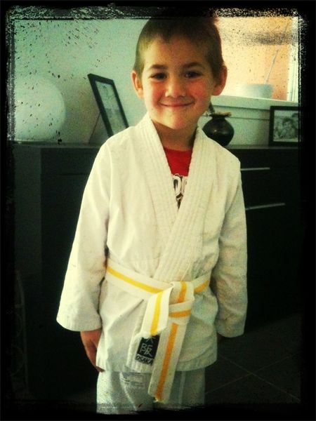 Fiere De Mon Judoka Avec Sa Ceinture Jaune !!