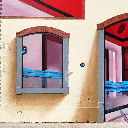 Close-up of multi colored door