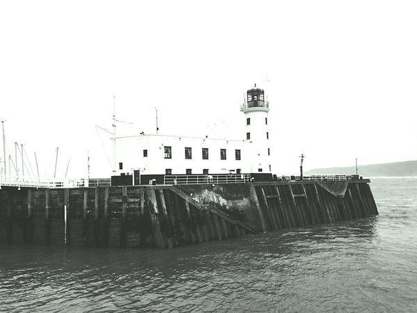 Lighthouse Sea Coast Yorkshire Britain UK England