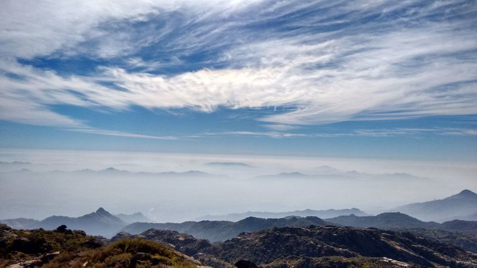 Blue Wave Landscapes With WhiteWall First Eyeem Photo Eyeem Weekly EyeEm Gallery Above The Clouds Winter Winter Wonderland@ Mount Abu Rajasthan, India The Great Outdoors With Adobe