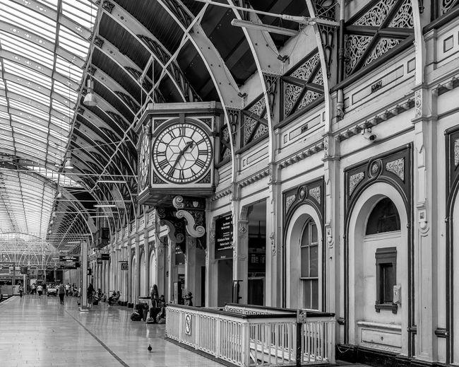 Clock, Paddington Station, London Clock Great Western Railway Paddington Black And White London FUJIFILM X-T10 Monochrome Architecture Railway Station Railway Train Station