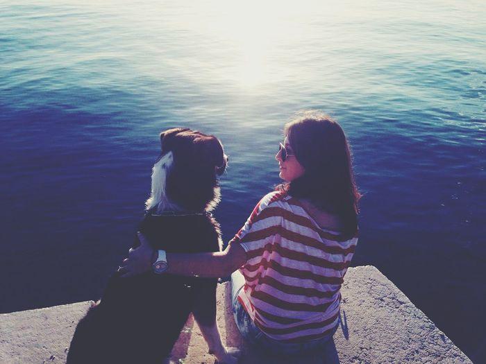 Near Home Sea MeAndMyDog Friendsforlife Enjoying Life Sunny☀ Relaxing Mydog Alwaysbymyside Bythesea