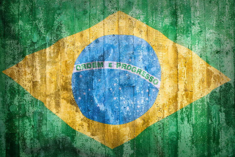 Brazil Close-up Communication Day Flag National Flag No People Outdoors Painted