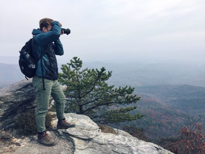 Always looking for Views Camera - Photographic Equipment Beauty In Nature Full Length Photography Themes Real People Outdoors Mountain Photographer Linville Autumn