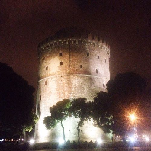 Thessaloniki Thessaloniki Greece Thessaloniki Port  Autumn #fall White Tower Greece Nightwalk Friendship. ♡   Freinds Love Seesight