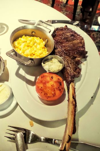 Tomahawk Steak Steak Dinner Steak Night Beef Big Appetite