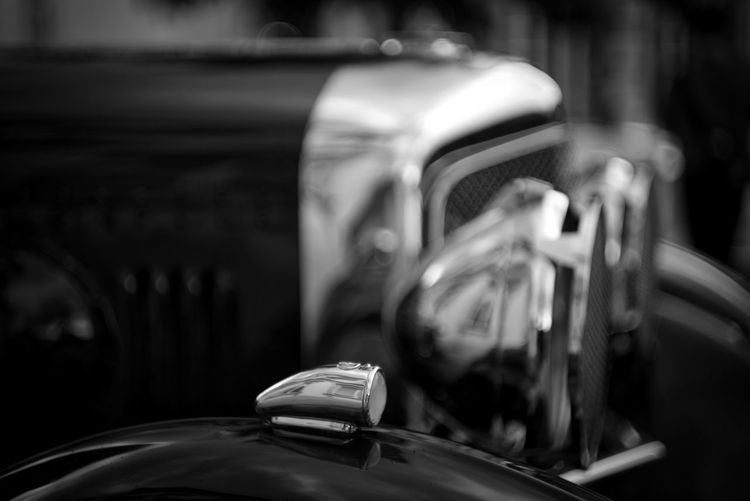 Vintage car for display at auto show