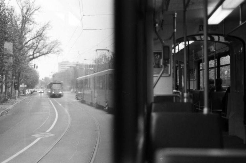 Ubahn View Inside The Overground Black And White 35mm Film Nikon FE Frankfurt Train The Following Monochrome Photography
