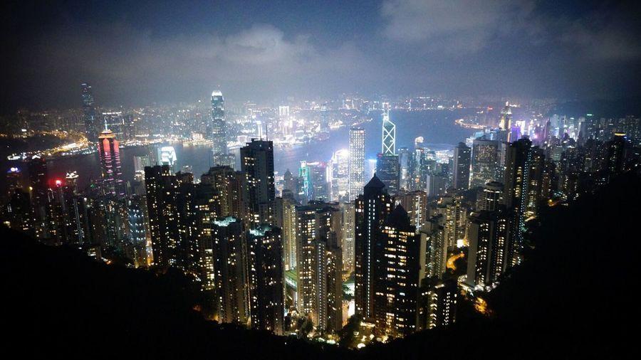 HongKong Thepeak City City Lights