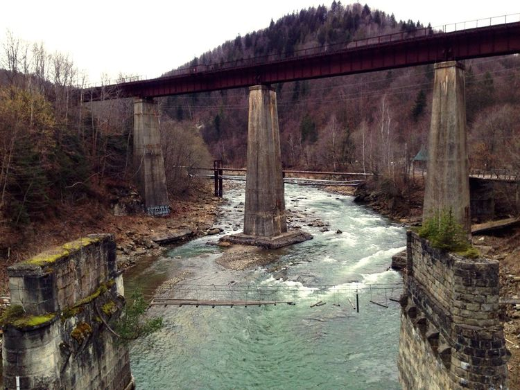 Bridge Bridges мост Яремче Carpathians Карпаты