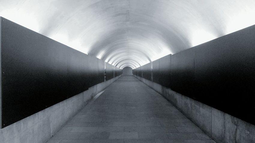 Follow the tunnel Blackandwhite Tunnel Tunnelvision Lightattheendofthetunnel