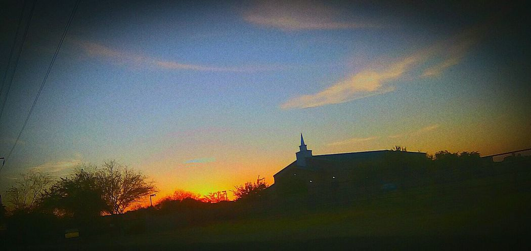 Sunset Clouds And Sky Clouds Church Glendale Beauty In Nature Beautiful