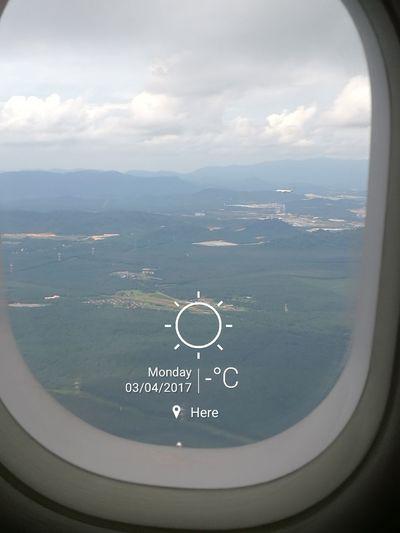 Hi to Kuala Lumpur!! Travel Destinations Aerial View Sea Sky Scenics Airplane